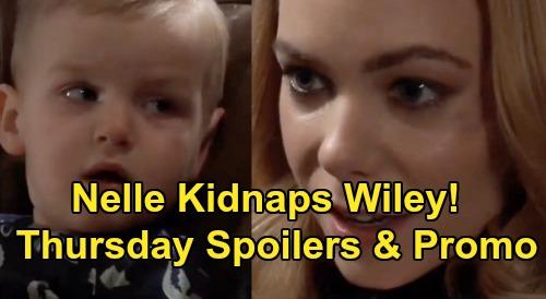 General Hospital Spoilers: Thursday, February 20 – Nelle Kidnaps Wiley – Jason & Sonny Face Jonah Bomb – Taggert's Daughter Mystery