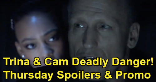 General Hospital Spoilers: Thursday, February 27 – Deadly Danger for Cam & Trina – Carly Grills Dev About Bullet – Jason's Murder Plot