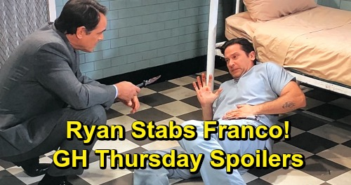 General Hospital Spoilers: Thursday, February 28 – Franco Stabbed by Ryan, Escapes Ferncliff – Drew and Liz Ponder Interview Clues