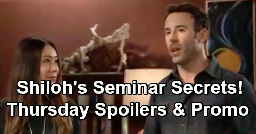 General Hospital Spoilers: Thursday, January 17 – Shiloh's Creepy Seminar Secrets – Jason's Urgent Drew Warning – Alexis' Big News