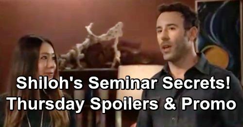 General Hospital Spoilers: Thursday, January 17 – Shiloh's Creepy Seminar Secrets – Jason's Urgent Drew Warning – Alexis' Big News