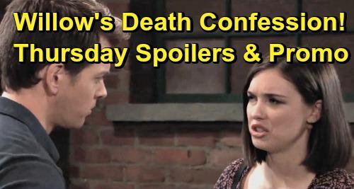 General Hospital Spoilers: Thursday, June 20 – Willow Shares Deadly Dad Details – Kim's News Stuns Liz – Sonny Grills Dev