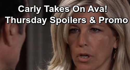 General Hospital Spoilers: Thursday, June 6 – Shiloh's Great News – Carly Takes On Ava – Willow Messes Up