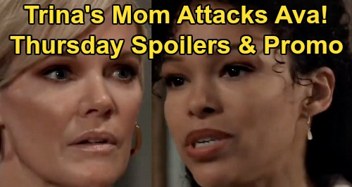 General Hospital Spoilers : Thursday , March 5 – Dr . Portia Robinson Attacks Ava , Trina Mom Rages – TJ in Danger – Carly Ready for Custody War