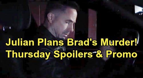 General Hospital Spoilers: Thursday, November 28 – Julian Plans Brad's Murder – Andre Gives 'Drew' Chance to Back Out