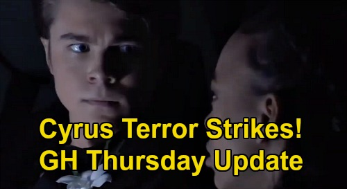 General Hospital Spoilers: Thursday, February 27 Update – Cyrus Terror Strikes Trina & Cam – T.J. Proposes to Molly – Dev's Busted