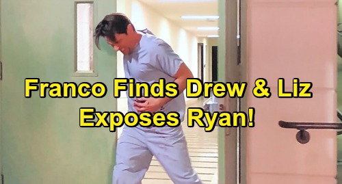 General Hospital Spoilers: Thursday Update February 28 - Liz and Drew Stunned as Bleeding Franco Exposes Ryan and Collapses