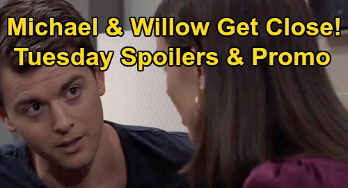 General Hospital Spoilers: Tuesday, April 14 – Valentin & Nelle's Run-In – Willow & Michael's Tender Moment – Lulu Warns Maxie
