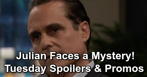 General Hospital Spoilers: Tuesday, April 2 – 56th Anniversary Show Shockers – Julian Ponders a Mystery – Scott's Special Message General Hospital (GH) spoilers for Tuesday, April 2, tease that a very special episode is on the way. GH is celebrating their 56th anniversary with a look back at the show's lengthy history. Fans can expect some fun flashbacks and an exciting return. Denise Alexander will reprise her role as Dr. Lesley Webber, so that's definitely something to look forward to. While Lesley catches up with Dr. Monica Quartermaine (Leslie Charleson), Epiphany Johnson (Sonya Eddy) will have a chat with Elizabeth Webber (Rebecca Herbst). General Hospital viewers know Franco Baldwin (Roger Howarth) isn't Epiphany's favorite person, but she understands how much Liz loves him. Epiphany will let Liz know she's got her back on Tuesday. The staff members at GH are a team, so they'll always support each other. Over with Alexis Davis (Nancy Lee Grahn), she'll gather everyone for Dr. Gail Baldwin's bequest to GH. Alexis told Laura Webber (Genie Francis), Liz and Franco that a long list of people were asked to be there, and she wasn't kidding! It'll be a full house as Alexis reveals Gail's final wishes, which will include some surprises. Even Julian Jerome (William deVry) will be in attendance, but he'll have to wonder what he's doing there. Alexis will assure Julian that all will be revealed in time. This big announcement will affect many General Hospital characters, so it's important for everybody to come together and listen up. At this meeting, Scott Baldwin (Kin Shriner) will get a message that leaves him deeply moved. It sounds like Gail had some sweet parting words for him. Meanwhile, Felicia Scorpio (Kristina Wagner) will have a heartfelt conversation with Bobbie Spencer (Jacklyn Zeman). They'll reflect on days gone by and share a hug before long. Other General Hospital spoilers say Maxie Jones (Kirsten Storms), Mac Scorpio (John J. York) and Sonny Corinthos (Maurice Benard) will also be on hand. GH viewers will also see a close moment between Dr. Kevin Collins (Jon Lindstrom) and Lucy Coe (Lynn Herring). Kevin may worry about upsetting the others in attendance, but Lucy will insist this is where he's meant to be. Laura will witness Lucy's care for Kevin, but she's shown she how much she cares as well. She posted Kevin's bail, so that should be something he figures out and thanks her for on Tuesday. General Hospital spoilers say a fantastic show is coming up, so stay tuned. We'll give you updates as other GH news comes in. Stick with the ABC soap and don't forget to check CDL often for the latest General Hospital spoilers, updates and news.
