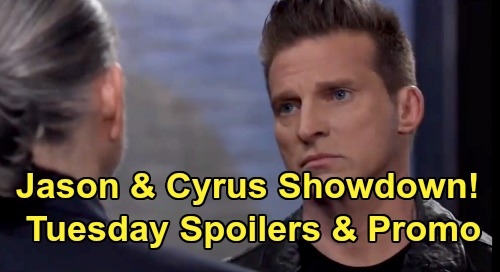 General Hospital Spoilers: Tuesday, April 7 – Jason and Cyrus Fierce Faceoff – Carly's Breaking Point - TJ & Molly Reunion