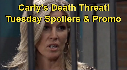 General Hospital Spoilers: Tuesday, February 25 – Nelle Faces Carly's Death Threat – Jason Warns Michael - Julian Wins Over Sam