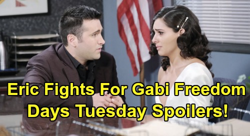Days of Our Lives Spoilers: Tuesday, February 25 – Eric Fights for Gabi's Freedom – Xander & Victor Busted, Sonny Demands Answers