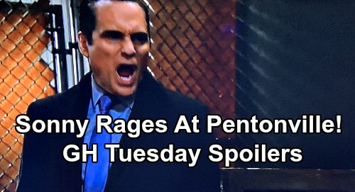 General Hospital Spoilers: Tuesday, February 4 – Peter Threatens Anna's Life - Josslyn's Australia Move - Sonny Explodes at Pentonville