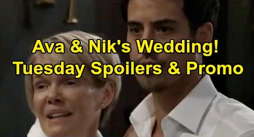 General Hospital Spoilers: Tuesday, January 7 – Ava Gloats Over Nikolas Wedding – Maxie's Disturbing Discovery – CarSon Make Peace