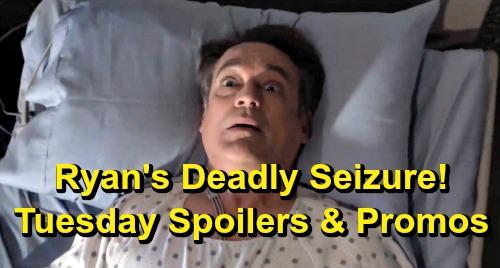 General Hospital Spoilers: Tuesday, June 4 – Ryan's Life-threatening Seizure – Stella Saves Jordan – Josslyn Leans on Cameron