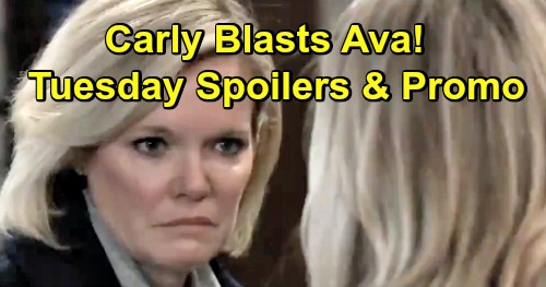General Hospital Spoilers: Tuesday, March 19 – Sonny Fakes Death with Dante – Carly Blasts Ava - Alex's Memory Reveal