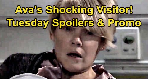 General Hospital Spoilers: Tuesday, November 5 – Ava's Shadybrook Visitor Shocker – 'Drew' News For Liz - Brad Exposes Blackmail