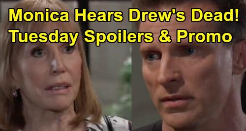 General Hospital Spoilers: Tuesday, September 10 – Jason Tells Monica Drew's Dead – Peter Calls Hit Man, Furious Andre Still Alive