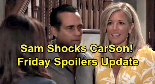 General Hospital Spoilers: Friday, August 16 Update – Sam's News Shocks CarSon – Drew Drops Bomb on Monica – Dev Needs Josslyn's Help