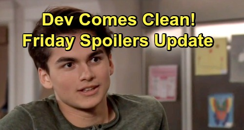 General Hospital Spoilers: Friday, July 5 Update – Dev Comes Clean - Jason Pressures Harmony – Sam's Diner Disguise