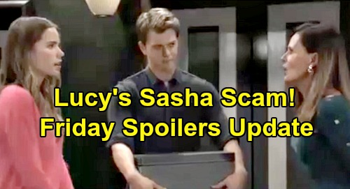 General Hospital Spoilers: Friday, October 11 Update – Sasha Scam Is Pure Gold for Lucy – Suspicious Ava Watches Julian Choke Brad