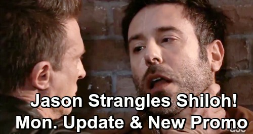 General Hospital Spoilers: Monday, March 25 – New Weekly Video Preview - Jason Strangles Shiloh - Dante Shoots To Kill