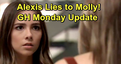 General Hospital Spoilers: Monday, April 22 Update – Molly Makes Trouble – Carly Meddles in Michael's Love Life, Grills Sasha