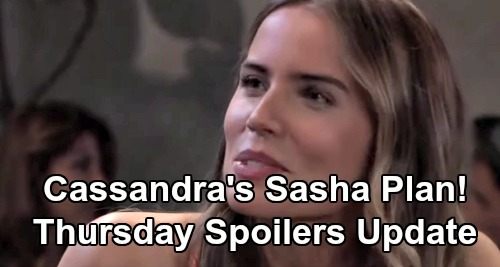 General Hospital Spoilers: Thursday, August 1 Update - Wild Wyndemere Dinner Party - Cassandra's Plan For Sasha