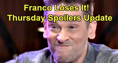 General Hospital Spoilers: Thursday, August 15 Update – Franco's Frustration Explodes – Liz & Drew Shock Kim – Sasha DNA Details