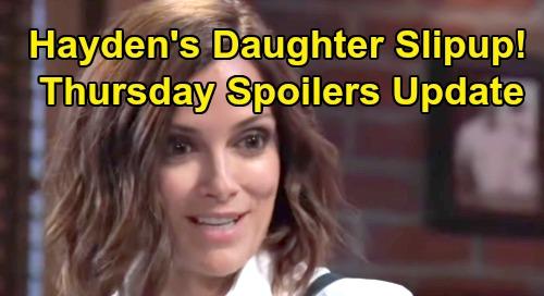 General Hospital Spoilers: Thursday, August 29 Update – Hayden's Daughter Secret Slipup – Sasha's Fading Fast – New Cassandra Lead