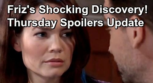 General Hospital Spoilers: Thursday, July 18 Update - Friz Discovers Who Pushed Liesl Overboard - Nina Guilty For Harming Willow