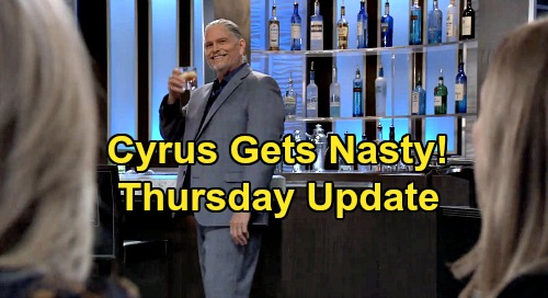 General Hospital Spoilers: Thursday, May 7 Update – Cyrus Taunts Carly & Laura - Jason, Curtis & Sonny Strategize – Trina's Outburst