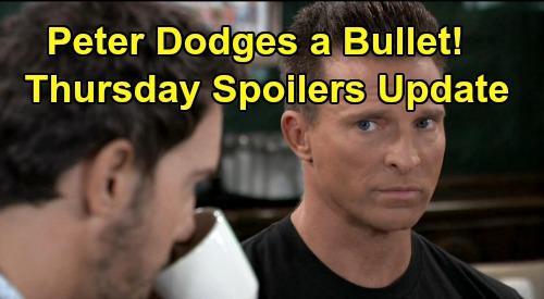General Hospital Spoilers: Thursday, October 10 Update – Finn Suspects Hayden – Peter Dodges a Bullet – Sasha Accepts Her Fate
