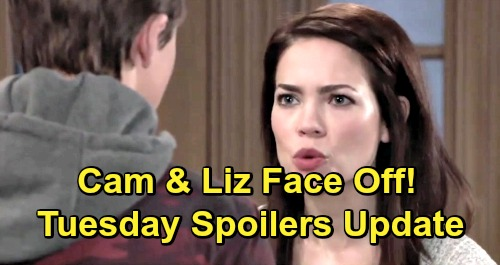 General Hospital Spoilers: Tuesday, February 12 Update – Liz and Cameron Face Off – Nina's Big News – Sonny Advises Spencer
