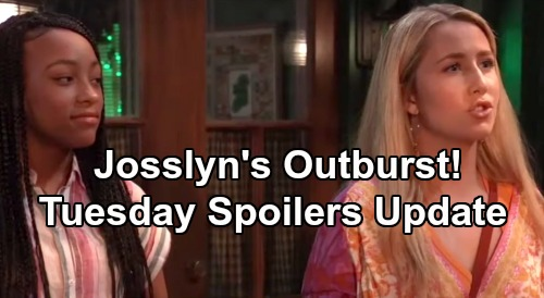 General Hospital Spoilers: Tuesday, July 23 Update - Michael Defends Sasha - Josslyn's Outburst - Hayden's Baby Secret