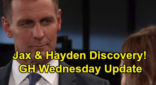 General Hospital Spoilers: Wednesday, July 31 Update - Jax and Hayden Search Wyndemere - Drew Warns Shiloh After Flash Drive Theft