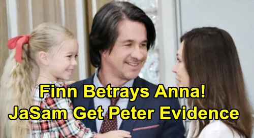 General Hospital Spoilers: Finn Betrays Anna to Protect Violet - Gives Jason and Sam Evidence Against Peter