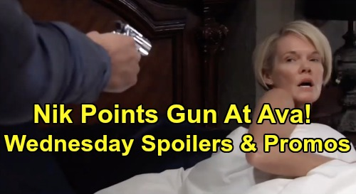 General Hospital Spoilers: Wednesday, January 8 – Nikolas Points Gun at Ava – Lulu Cuts Valentin Out of Charlotte's Life
