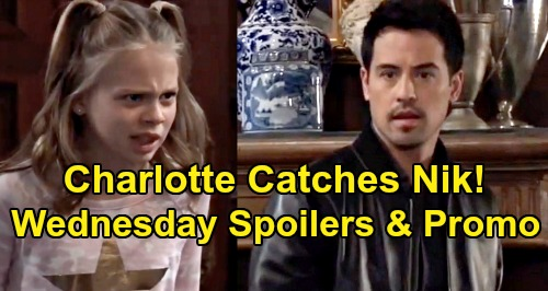 General Hospital Spoilers: Wednesday, November 20 – Charlotte Busts Nik at Wyndemere – Jason Rants About Killing Shiloh