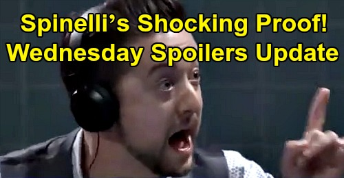 General Hospital Spoilers: Wednesday, October 9 – Spinelli's Shocking Proof – Sonny Suspects Peter – Martin Helps Kim Fight for 'Drew'
