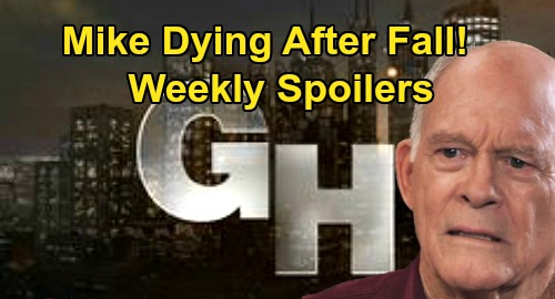 General Hospital Spoilers: Week of March 30 – Mike Dying After Terrible Fall – Brando & Carly Bond Grows – JaSam Conflict Erupts