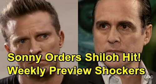 General Hospital Spoilers Weekly Preview - Sonny Orders Shiloh's Execution - Oscar's Shocking Request - Sam and Shiloh Undress