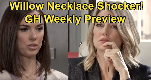 General Hospital Spoilers : Week of April 6 Preview - Nina Daughter Search , Willow Necklace Shocker - Joss Wants Nelle Stopped