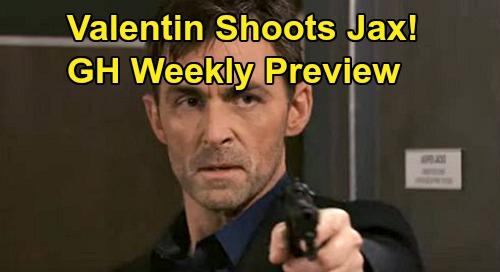 General Hospital Spoilers: Week of February 10 Preview - Valentin Shoots Jax - Finn Betrays Anna, Jason & Sam Hot On Peter's Trail