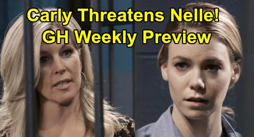 General Hospital Spoilers: Week of February 24 Preview - Carly Bans Nelle From Wiley Forever - PC Deadly Disaster Unfolds, Cyrus' Revenge