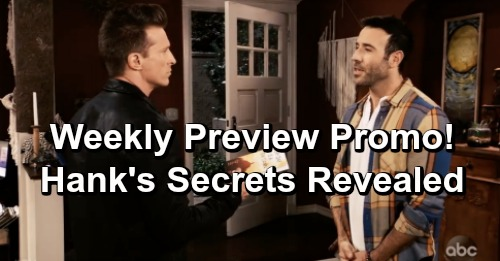General Hospital Spoilers: Weekly Preview Update – Jason's Suspicious Gift from Hank, Drew Meets Old 'Buddy' – Laura's Shock Visit
