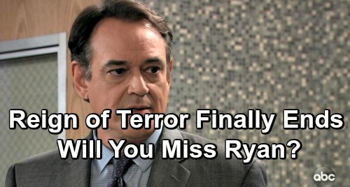 General Hospital Spoilers: Ryan's Reign of Terror Finally Ends – Will You Miss Ryan or Goodbye, Good Riddance?