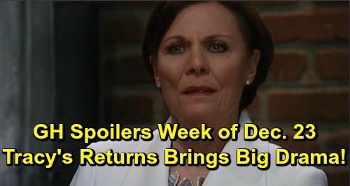General Hospital Spoilers: Week of December 23-27 – Finn's a Scrooge This Christmas – Tracy's Return Brings Drama – Peter Gets Help