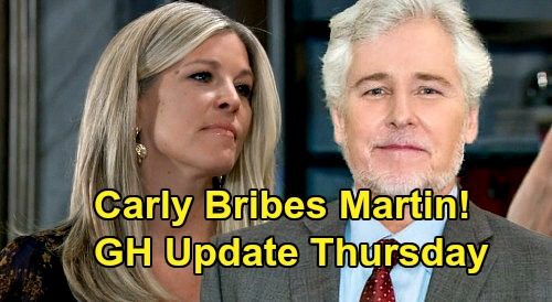 General Hospital Spoilers Update: Thursday, May 14 – Carly Bribes Martin, Says Throw Nelle's Case – Finn & Anna Set Wedding Date