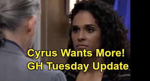 General Hospital Spoilers: Tuesday, May 12 Update – Cyrus Not Done with Jordan – Sonny's Important Call – Carly Praises Willow